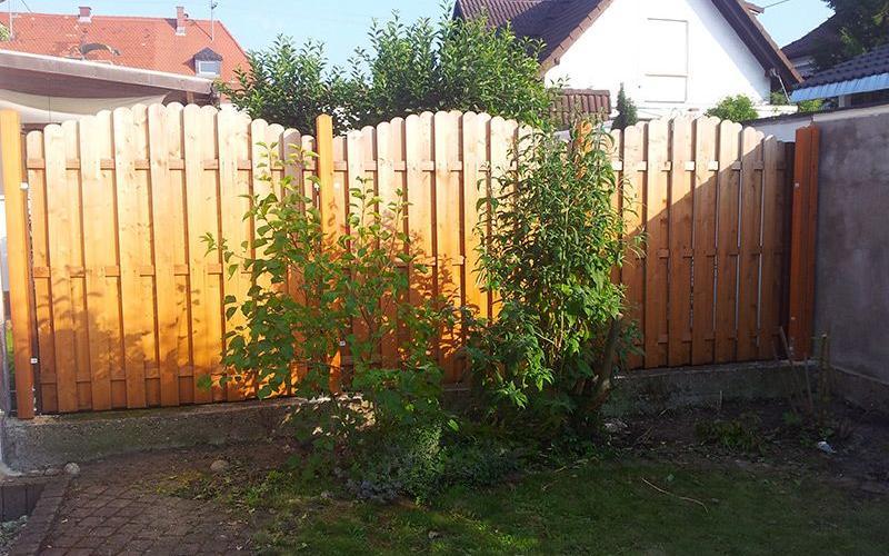 Gartenzaun Montage
